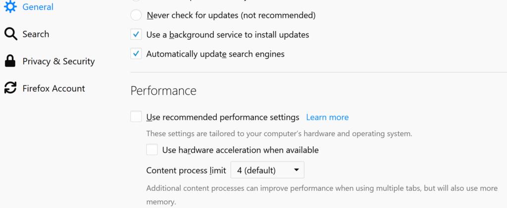 Firefox 59 disable hardware acceleration – VRPC COM